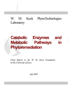 Contemporary Report - WM Keck Phytotechnologies Laboratory