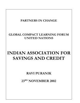 Indian Association for Savings and Credit
