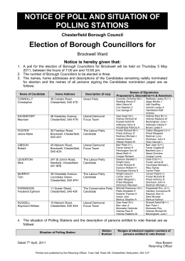 Notice of Poll - Chesterfield Borough Council
