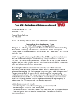 News Advance for TMC's 2014 Annual Meeting