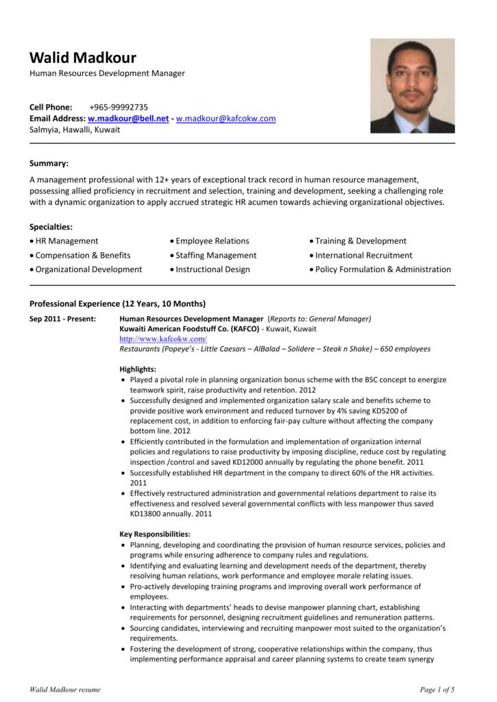 Walid Madkour - Gulf Job Finder