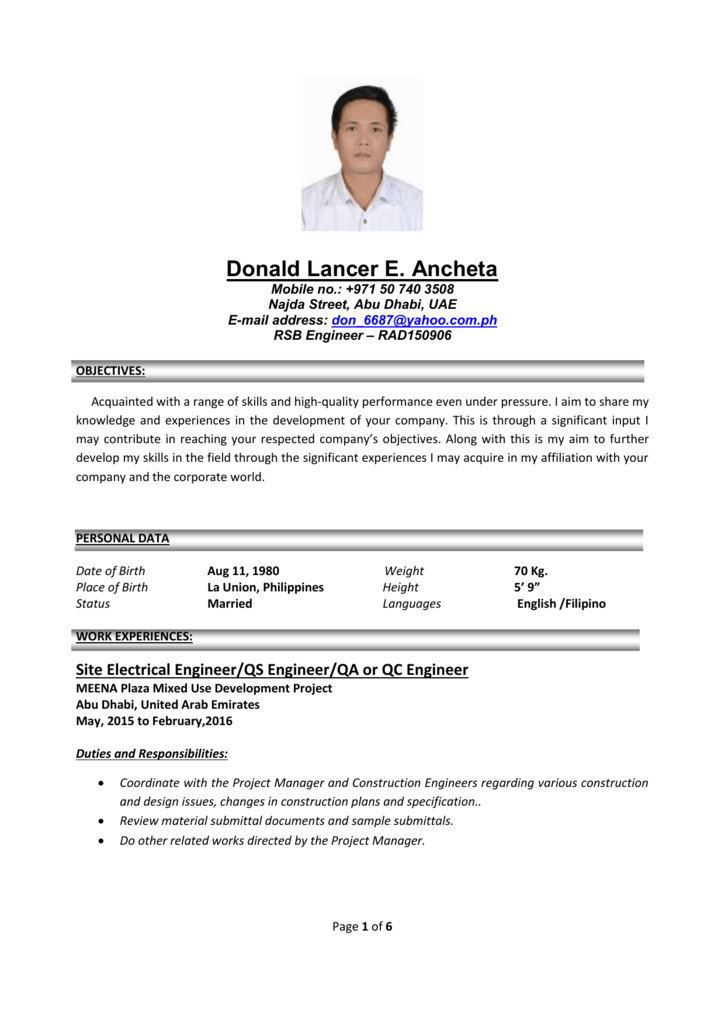 Resume - DOS Recruiting & Consulting