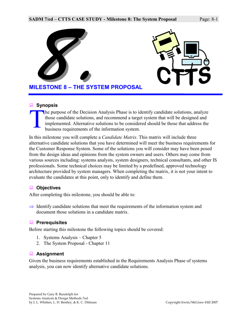 ctts case study milestone 6 solution