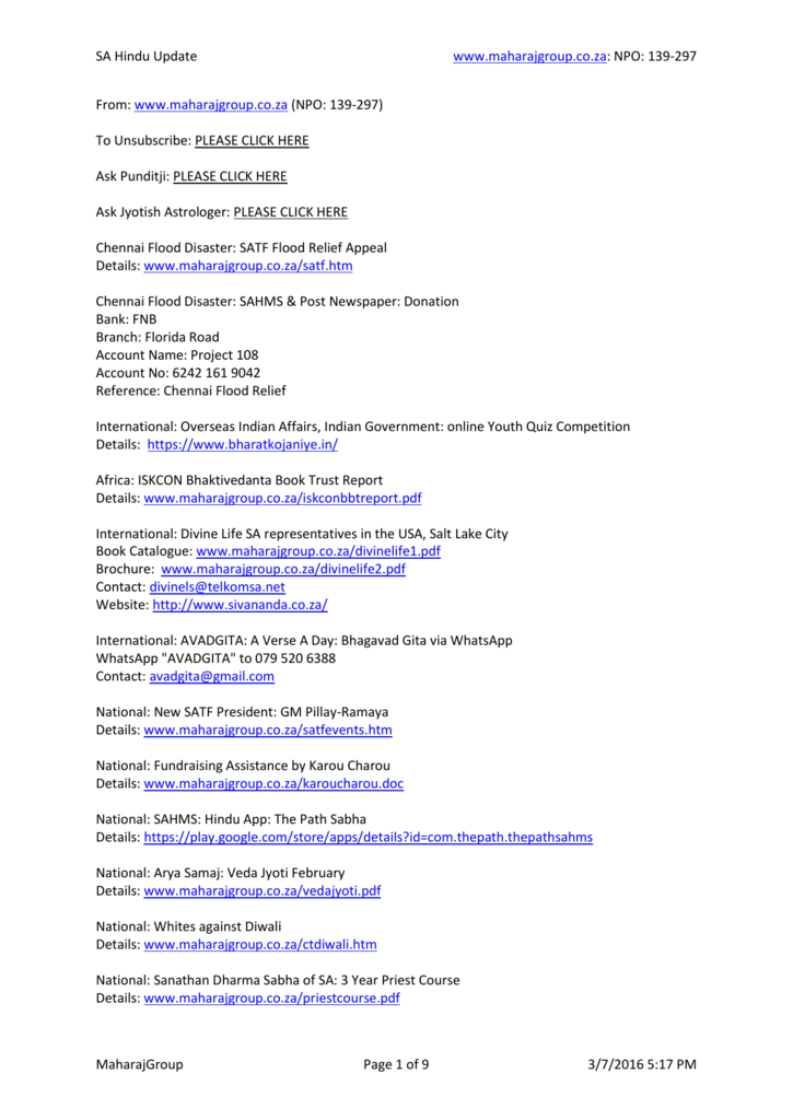 Click to View Latest Update (MS-Word Document)