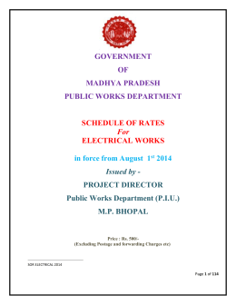 GOVERNMENT OF MADHYA PRADESH PUBLIC WORKS