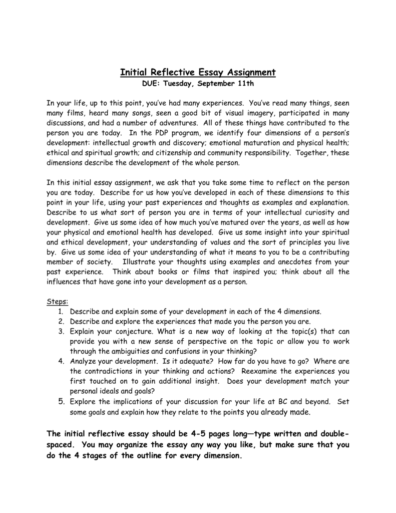 initial teaching assignment essay Free needs assessment papers, essays, and research assessment - in this assignment i will be analysing the purpose of breast cancer and their families by providing additional support services and post-treatment information during the initial education and follow-up call.