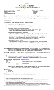 CRA Worksheet - Federal Reserve Bank of Kansas City