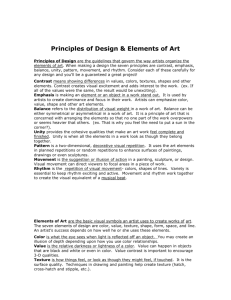 Principles of design and elements of art handout