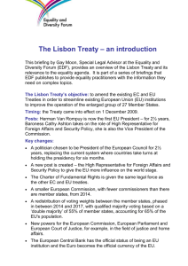 The Lisbon Treaty – an introduction