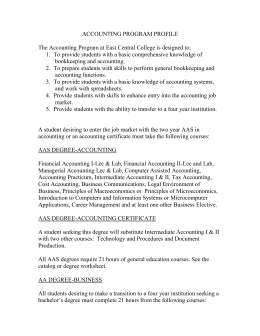 accounting program profile