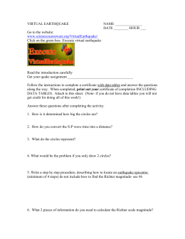 virtual earthquake science courseware answers dating