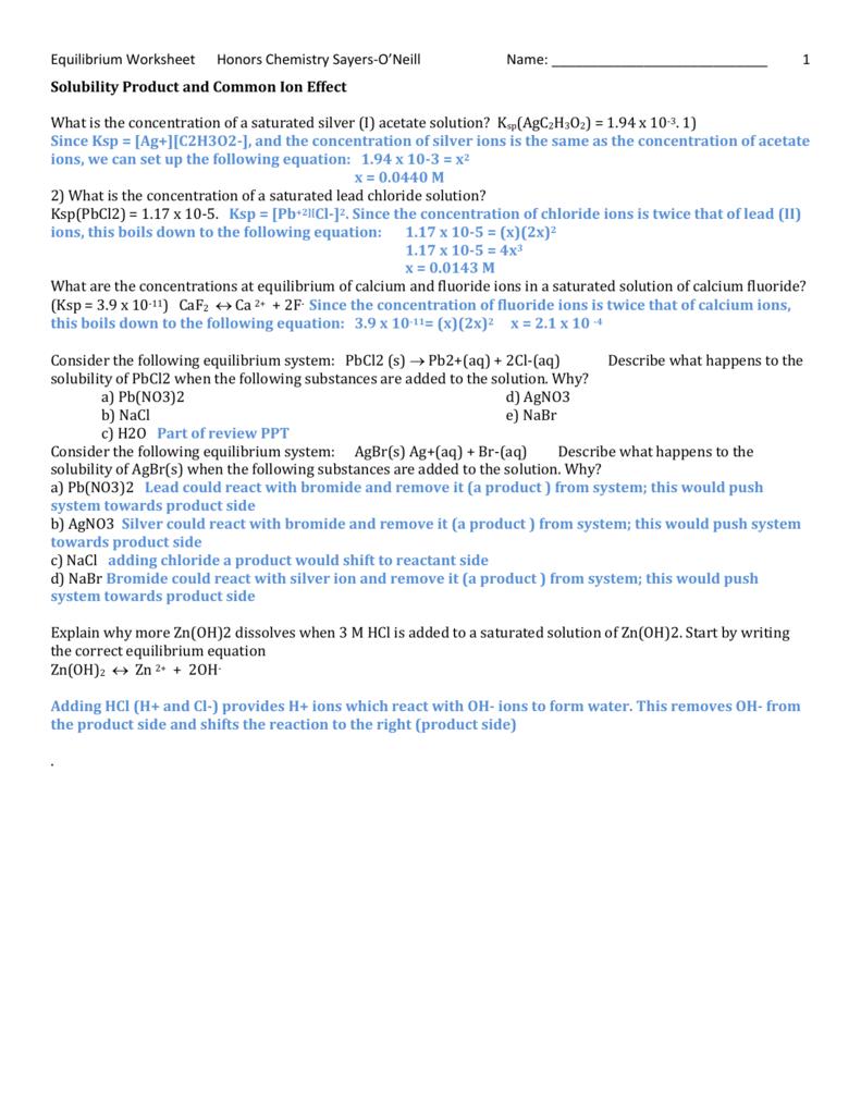 Ksp answers