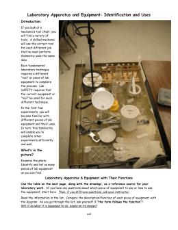 Lab Equipment Scavenger Hunt