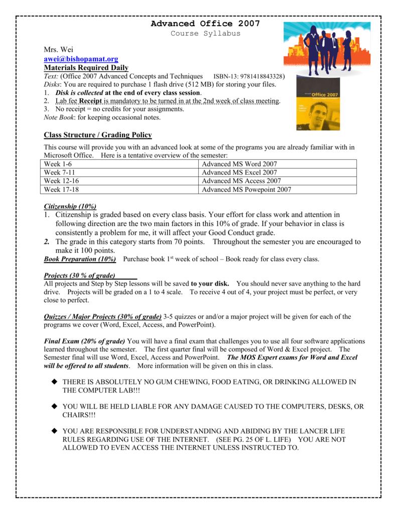 Microsoft Word 2007 Learning Book