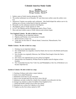 Colonial America Study Guide Answers