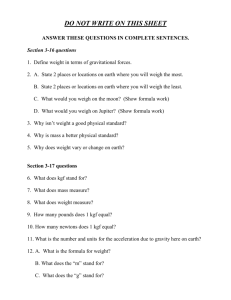DO NOT WRITE ON THIS SHEET ANSWER THESE QUESTIONS IN