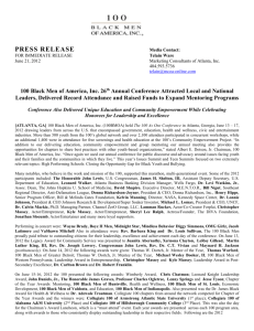 100 Press Release - 100 Black Men Of America