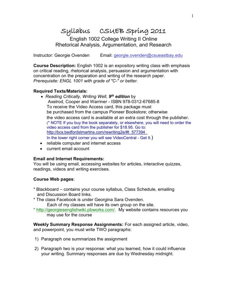 engl 161 summary response essay instruct