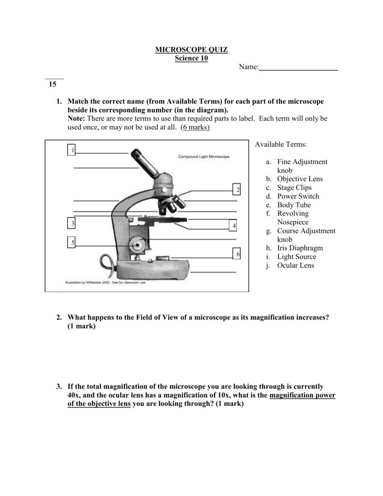 Microscope Quiz