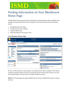 Finding Information on Your Blackboard Home Page The