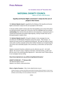 National Dignity Council's press release (doc - 31Kb)