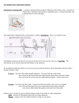 Sect. 19.2 & 19.3 Notes Earthquakes