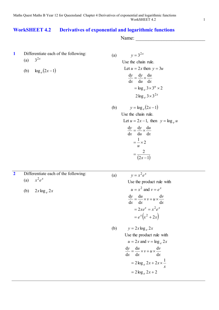 10  calculus derivatives of exponential logarithm functions q a  ap together with  besides  moreover Logarithms And Exponential Equations Math Solving Exponential moreover Domain and Range of Exponential and Logarithmic Functions likewise Graphs Of Logarithmic Function Math Chapter 7 Exponential And moreover Exponential and Logarithmic Functions Worksheet with Answers additionally exponential word problems worksheet – pijar co together with Worksheet 4 2 as well CHAPTER 2  Exponential   Logarithmic Function   Logarithm likewise Solving Log Equations Worksheet Key Awesome Worksheets Logarithmic additionally Alge Log Math Alge 2 Logarithm And Exponential Functions Test further What Is A Logarithmic Equation Math 2 Logarithmic Functions besides exponential and logarithmic functions worksheet   Siteraven besides √ Graphing Basic Logarithmic Functions Worksheet moreover Inverse Of Log X Math Find Inverse Functions Inverse Log Mathematica. on exponential and logarithmic functions worksheet