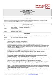 sample HR CV - Morgan McKinley
