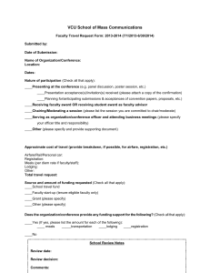 VCU MASC Travel Request Form