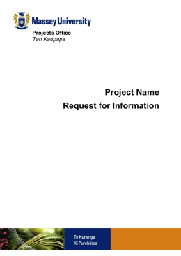 Project Name - Massey University
