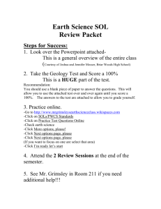 Earth Science SOL - The Earth Science Explorer