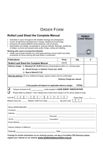 Order Form - The Lead Sheet Association