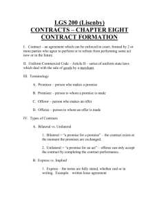 Chapter 11 – CONTRACTS