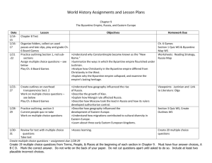 World History Assignments and Lesson Plans Chapter 9 The