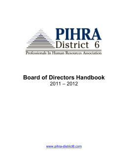 PIHRA District 6 Board of Directors