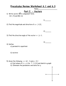 Review Worksheet 6.1,6.3