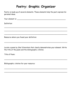 Poetry Party Graphic Organizer
