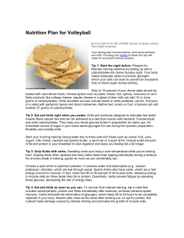 Nutrition Plan for Volleyball