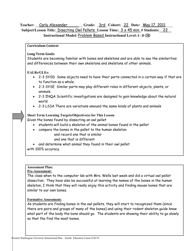 worksheet Virtual Owl Pellet Dissection Worksheet calexander owl pellet lesson