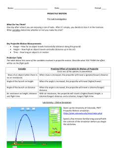 Phet Proj Motion worksheet