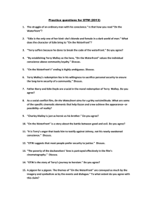 On the waterfront essay topics