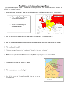 World War I: Textbook Scavenger Hunt