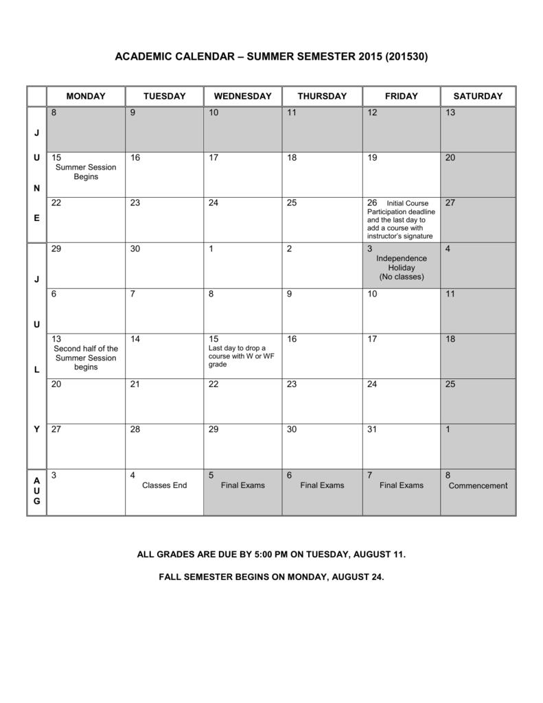 Ksu Academic Calendar Fall 2022.Academic Calendar Fall Semester 2002