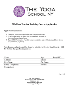 200hr Teacher Training Application Form (Word)