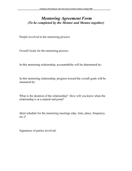 Sample Mentoring Agreement Form