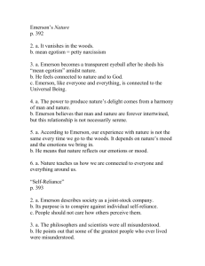 Emerson and thoreau homework answers 2009