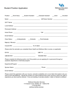 Student Position Application (WORD)