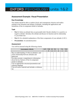 Assessment Example: Visual Presentation Key Knowledge The