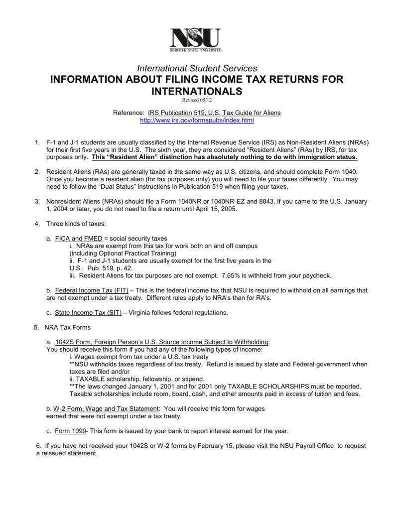 Filing Taxes - Norfolk State University