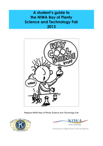 30th NIWA BOP Science Fair